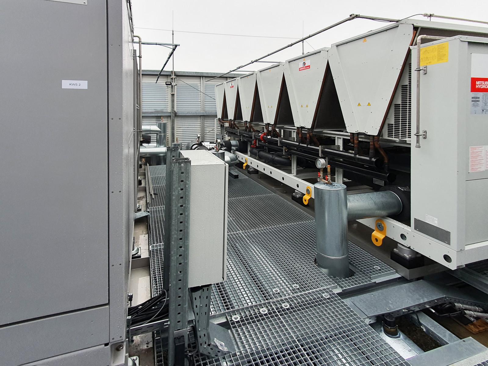 Kaltwassersatz mit Besprühung für Rechenzentren
