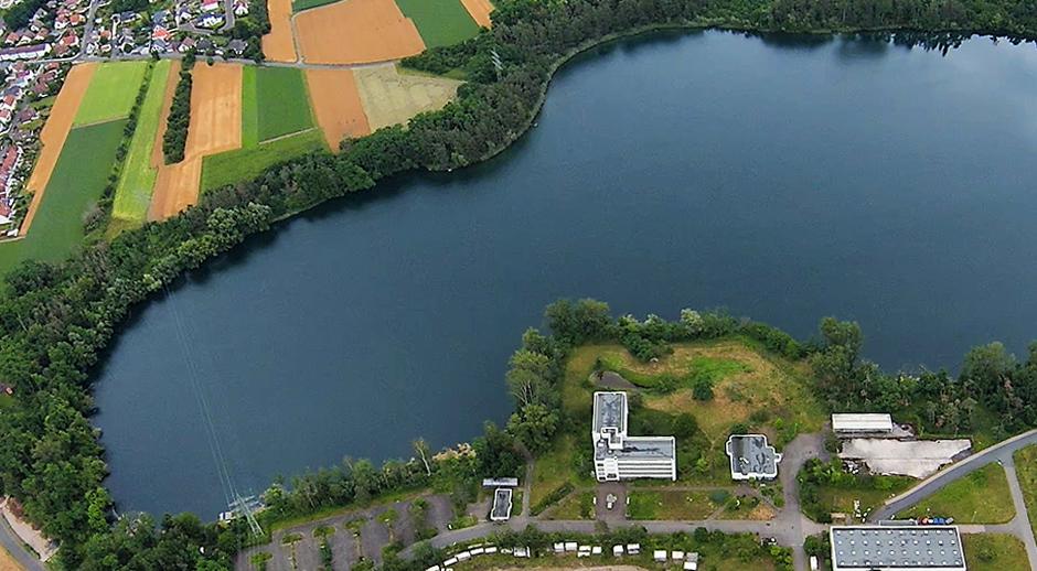 Luftaufnahme Gustavsee - Standort
